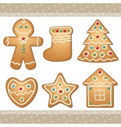 Set gingerbread vector
