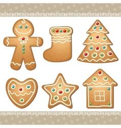 Set gingerbread vector