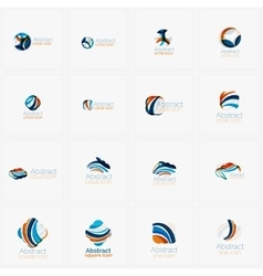 Set of light abstract geometric business company vector image