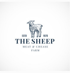 sheep abstract sign symbol or logo vector image