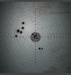 Shooting mark pinpoint composition vector