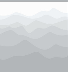 Silhouette of mountains at sunrise vector