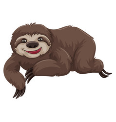 sloth with happy face vector image