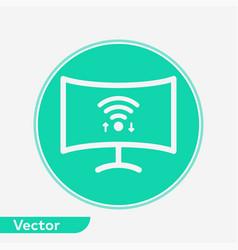 Smart television icon sign symbol vector