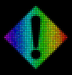 spectrum dot warning icon vector image