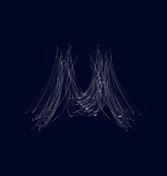 Spider scary cobweb isolated icon vector
