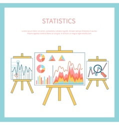 Stand with charts and parameters vector image