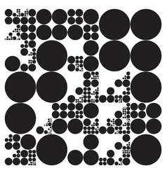 Subdivided circle grid system randomly sized vector