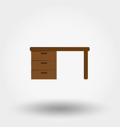 table workplace vector image vector image