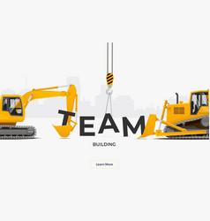 team building banner template design concept vector image