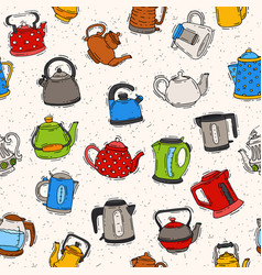 teapot and kettle teakettle to drink tea on vector image