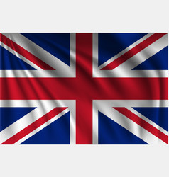 Waving great britain vector