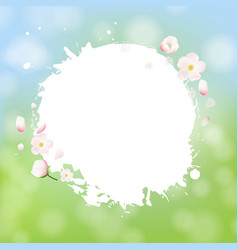 White stain with flowers sale banner bokeh vector