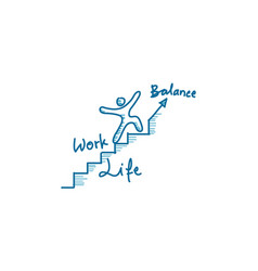 Work life balance template vector