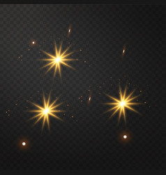 yellow glowing light burst explosion vector image