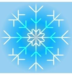 a snowflake vector image vector image