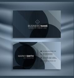 Dark black business card design template vector