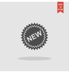 Flat New label icon vector image