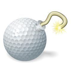 golf ball bomb concept vector image