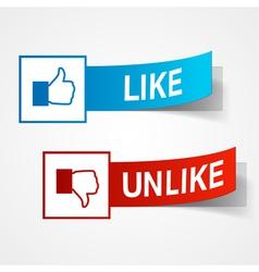 Like and unlike symbols vector