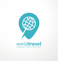 logo idea for travel agency vector image
