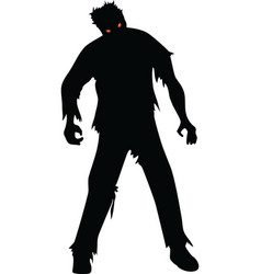 zombie isolated on white vector image vector image