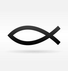 Christian Fish Symbol vector image