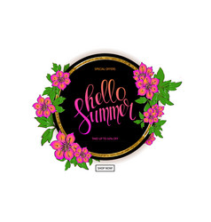 Colorful floral frame for sale summer season vector