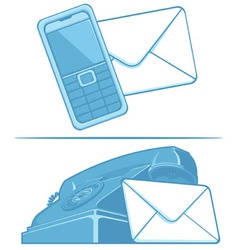 Contact Us Symbol Phone Mail vector image