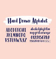 stylish hand drawn english alphabet collection of vector image