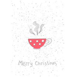 christmas cup hand drawn elements for your vector image vector image