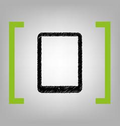 computer tablet sign black scribble icon vector image vector image