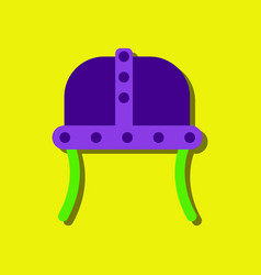 Flat icon design collection ancient helmet in vector
