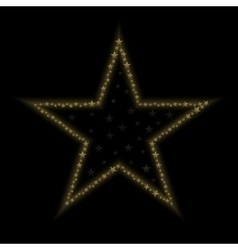 Golden star icon vector image vector image