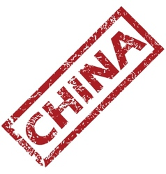 New China rubber stamp vector image