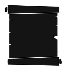 retro scroll paper icon simple vector image vector image