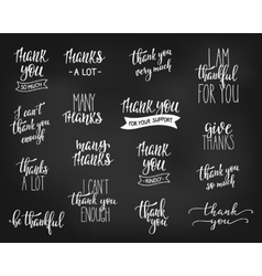 Thank you Family Positive quote lettering set vector image