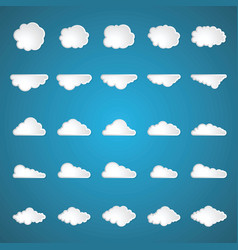 clouds set on blue background vector image