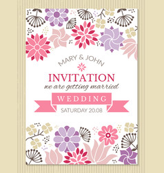 floral poster design template with place for your vector image vector image