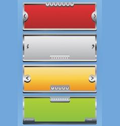 menu sliders vector image vector image