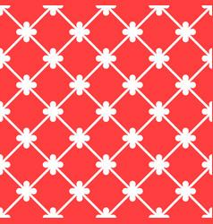 red spanish ornamental ceramic tile vector image