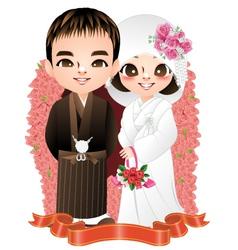 Wedding japan vector image