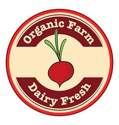 A dairy fresh and an organic farm logo with an vector image