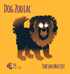 A zodiac sign with a funny dog vector