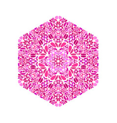 Abstract geometrical colorful isolated flower vector