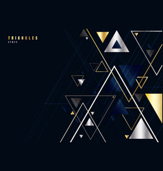 Abstract gold and silver triangles shape and vector
