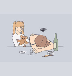alcohol drug addiction and help concept vector image