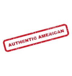 Authentic American Text Rubber Stamp vector
