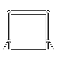 Backdrop stand with backdrop icon outline style vector image
