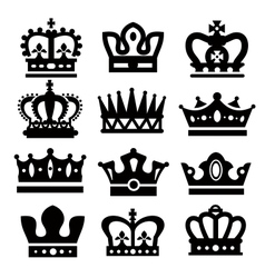 black crowns vector image
